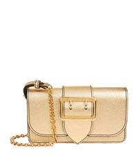 Burberry Shoes And Accessories Mini Metallic Buckle Bag Female Gold
