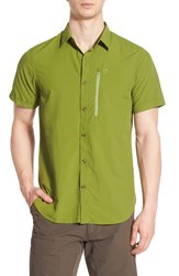 Fjall Raven Men's Fj Llr Ven 'Abisko' Regular Fit Short Sleeve Sport Shirt Meadow Green