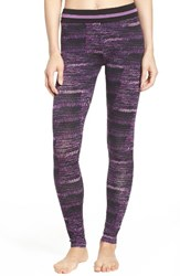 Dkny Women's Stretch Modal Leggings Black Abstract