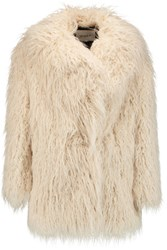 Ainea Faux Fur Coat Off White
