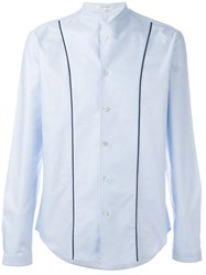 Carven Collarless Shirt Blue