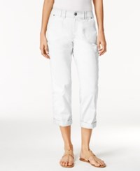 Styleandco. Style Co. Cropped Cargo Pants Only At Macy's Bright White