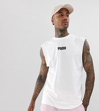 Puma Sleeveless T Shirt In White Exclusive At Asos