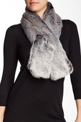 Dena Faux Fur Pull Through Scarf Black
