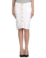 Fornarina Denim Skirts White