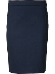 Lanvin Short Pencil Skirt Blue