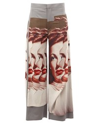 Undercover Photo Print Palazzo Pants Grey