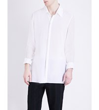 Ann Demeulemeester Relaxed Fit Cotton Shirt White And Geza White