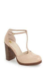 Bc Footwear Women's 'Local Ii' T Strap Pump Nude