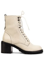Seychelles Irresistible Bootie In White. Off White Leather