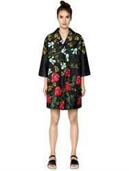 I'm Isola Marras Floral Printed Cotton Satin Cocoon Coat