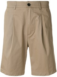 Department 5 Stretch Chino Shorts Nude And Neutrals