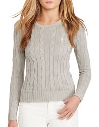 Polo Ralph Lauren Cable Knit Cotton Sweater Oxford Grey