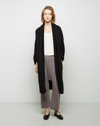 Lauren Manoogian Taper Wool Coat Black