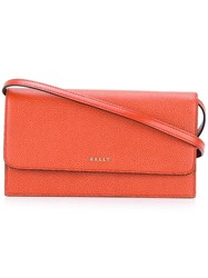 Bally Logo Plaque Crossbody Bag Yellow Orange