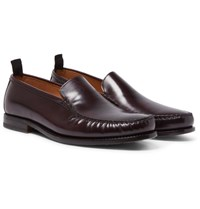Helbers Polished Leather Loafers Brown