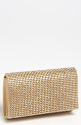 Natasha Couture Tasha Rhinestone Clutch Metallic Gold