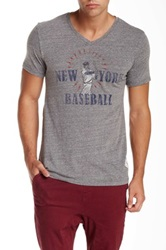 7Th Inning Stretch New York Baseball Graphic Tee Gray