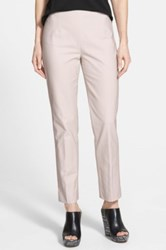 Nic Zoe 'The Perfect' Side Zip Ankle Pants Petite Beige