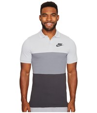 Nike Matchup Color Block Polo Wolf Grey Cool Grey Anthracite Men's Clothing White
