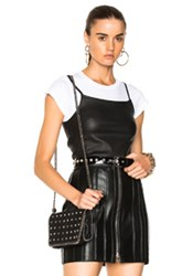 Helmut Lang Leather Strap Tank Top In Black