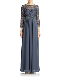 Decode 1.8 Illusion Cocktail Gown Steel