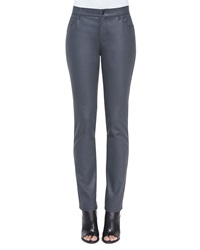 Lafayette 148 New York Wax Denim Curvy Slim Leg Jeans Women's