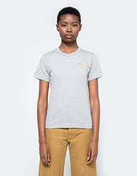 Comme Des Garcons Gold Heart Play T Shirt Grey