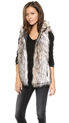 6 Shore Road By Pooja Hopi Reversible Faux Fur Vest Rock
