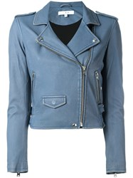 Iro Fitted Cropped Jacket Blue
