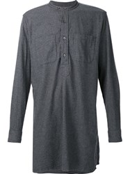 Engineered Garments Long Banded Collar Shirt Grey