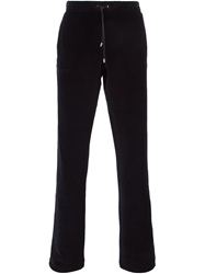 Versace Straight Leg Track Trousers Black