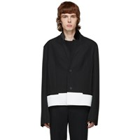 Haider Ackermann Black Wool Officer Jacket