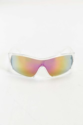 Urban Outfitters Clear Mirror Shield Aviator Sunglasses