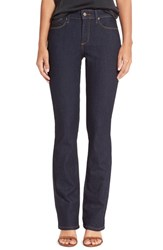 Nydj Women's 'Billie' Stretch Mini Bootcut Jeans Dark Enzyme