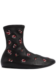 Kenzo Embroidered Stretch Leather Boots