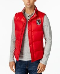 Buffalo David Bitton Mens Solid Compact Vest A Macy's Exclusive Style Red