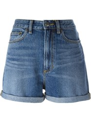 Marc By Marc Jacobs Sequin Cherry Denim Shorts Blue