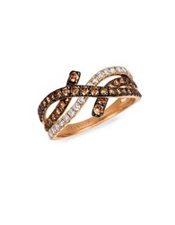 Levian Vanilla Diamond Chocolate Diamond Cognac Diamond And 14K Strawberry Gold Ring Rose Gold