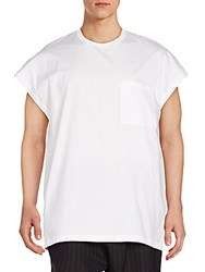 3.1 Phillip Lim Cotton Muscle Tee White