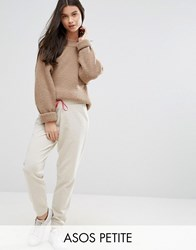 Asos Petite Joggers With Satin Bow Gold Brown