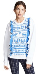 Michaela Buerger Fair Isle Sweatshirt White