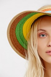 Free People Womens Sunny Daze Rainbow Visor