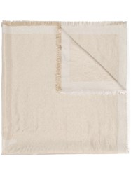 Fabiana Filippi Fringed Edge Scarf Neutrals