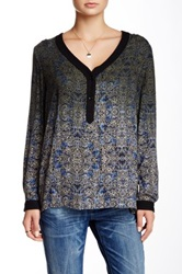 Gypsy05 Printed Hi Lo Blouse Multi