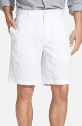 Vineyard Vines 'Summer' Classic Fit Cotton Twill Shorts White