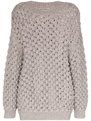 Vika Gazinskaya Oversized Knitted Jumper Grey