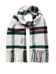 Mulberry Large Check Wool Wrap Cream