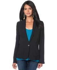 Vince Maternity Single Button Blazer Black Coastal