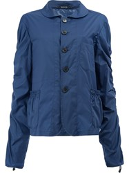 Maison Martin Margiela Draped Lightweight Jacket Blue